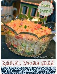 Craft Junkie Too: Ramen Noodle Salad ~ The Perfect Side Dish!#
