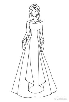 2004 Mary of Denmark wedding dress illustration from @ZalandoUK