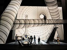 Anatomy of a Set Designer: A look at acclaimed George Tsypin's set design for a scene in <i>Spider-Man Turn Off the Dark</i>. The Set Designer plays a vital role in creating the world of the production onstage for the audience. Set Theatre, Set Design Theatre, Theatre Stage, Prop Design, Stage Design, Design Model, Image Spiderman, Julie Taymor, Scenography Theatre