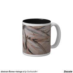 Your Custom 11 oz Two-Tone Mug White Coffee Mugs, Abstract Flowers, Custom Mugs, Classic White, Vintage Flowers, Tea Cups, Tableware, Stuff To Buy, Art