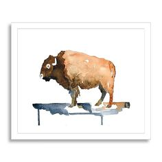 found a very similar picture on etsy. Minted for West Elm, Native Bison, 19
