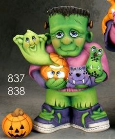 Halloween Clay, Halloween Painting, Halloween Cakes, Holidays Halloween, Halloween Decorations, Halloween Clipart Free, Clay Fairy House, Ceramic Shop, Clay Fairies