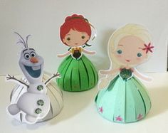 Porta bombom Frozen Fever Ana e Elsa