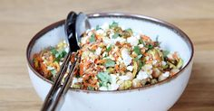 This Moroccan carrot and chickpea salad is lunch at its finest.