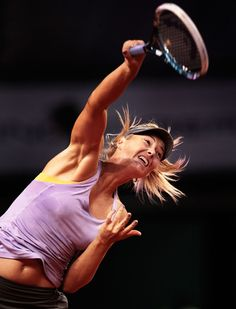 Sharapova beats Ivanovic in Stuttgart final Maria Sharapova, Sharapova Tennis, Tennis Clothes, Tennis Outfits, Sabine Lisicki, Football Cheer, Ana Ivanovic, Tennis Players Female, Sport Tennis