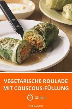 Vegetarische Roulade mit Couscous-Füllung - smarter - Zeit: 30 Min. | eatsmarter.de