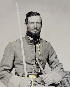 Civil War Photo Print Confederate Captain Missouri