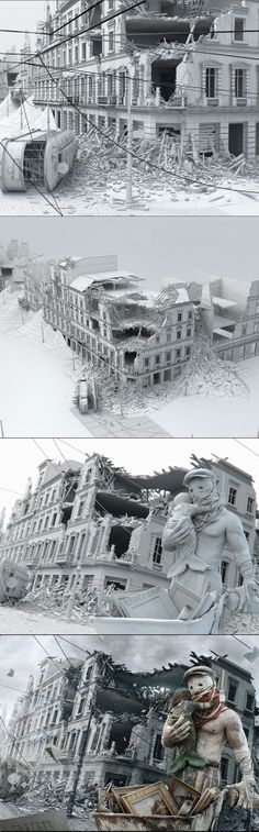 Warsaw - Phoenix City by STRZYG , via Behance