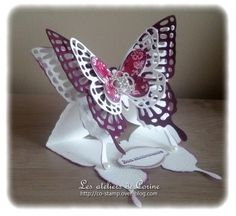 Very pretty butterfly card, looks quite simple to make just difficult to cut out!