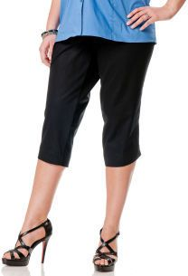 Motherhood Plus Size Secret Fit Belly® Twill Maternity Capri Pants on shopstyle.com