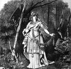 Freya. The goddess Freyja, in the woods