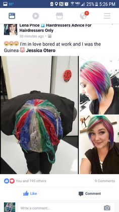 Pinwheel center point is back of the head Der Mittelpunkt des Windrads befindet sich hinten am Kopf New Hair Colors, Cool Hair Color, Underlights Hair, Hair Color Techniques, Pinterest Hair, Bright Hair, Unicorn Hair, Rainbow Hair, Crazy Hair