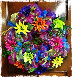 Colorful Summer Wreath!