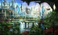fantasy cities   Alpha Coders   Wallpaper Abyss Fantasy City 150349