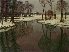 Max Clarenbach, NIEDERRHEINISCHE WINTERLANDSCHAFT, Auktion 945 Gemälde des 15. - 19. Jh., Lot 66