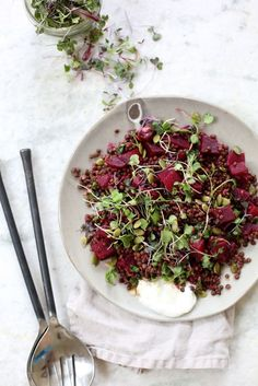 Spring Beluga Lentil & Beet Salad by Claire Ragozzino vegetable side main