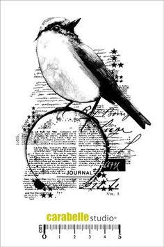 Tampon : Un oiseau sur mon journal en vente sur notre boutique en ligne spécialisée dans le scrapbooking et les fournitures de loisirs créatifs. Tout notre matériel est disponible en ligne.