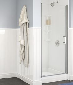 Shower Remodeling - Bath Fitter = Instead of a fixed nozzle mounted on the wall, I'd like an ADJUSTABLE HEIGHT, HANDHELD SHOWER NOZZLE.