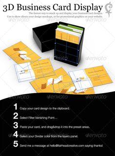 3D Business Card Display