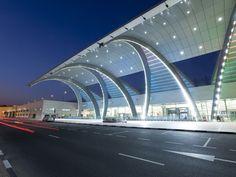 Stylish Modern Architecture of Terminal 3 Opened in 2010, Dubai International Airport