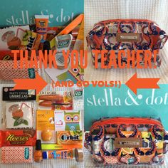 Teacher Gift - fill up a pouf with treats!