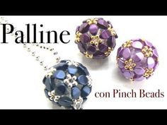 Come fare le Palline con Pinch Beads - Ciondolo - YouTube