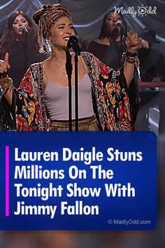 "2019 Grammy winner for Best Contemporary Christian Music Album and Billboard record-smashing album and single ""Look Up Child"" is a shining light. Lauren Daigle is a household name. Cool Music Videos, Good Music, Music Albums, Music Songs, Meaningful Lyrics, Contemporary Christian Music, Christian Singers, Lauren Daigle, Tonight Show"