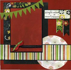 One page layout - the red & green would be good for 1st page in a Christmas book