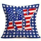45cm Cushion Cover Vintage American Flag Pillow Cases Cotton Linen Chair/Car/Sofa Pillow Cover Home Decor u70628