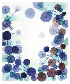 Watercolor painting Constellation original by LouiseArtStudio,