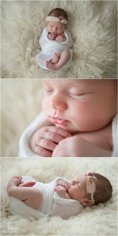 cream and white newborn photography - simple but classic