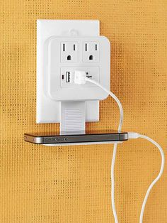 make any outlet USB port too with this from GE at Home Depot Electronics Projects, Home Depot, Home Technology, Hacks, Usb, Home Organization, Charger Organization, Organizing Ideas, Smart Home