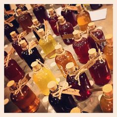 My homemade flavoured alcohol ready for Wedding Favours at my wedding :)