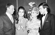Frank Sinatra with his children Tina, Nancy and Frankie at his 53rd birthday party in Las Vegas, 1968. #FrankSinatra #NancySinatra #TinaSinatra #FrankSinatraJr