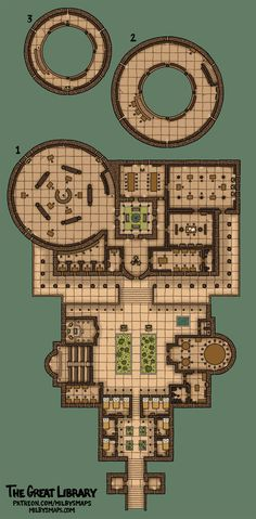 The Great Library urban City story map inspired by the ancient Library of Alexandria dndmaps lg Dungeons And Dragons Homebrew, D&d Dungeons And Dragons, Minecraft Blueprints, Minecraft Designs, Rpg Wallpaper, Dnd World Map, Fantasy City Map, Rpg Dice, Pathfinder Maps