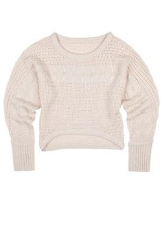 Cable Knit Hi/Lo Sweater