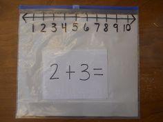 Ziploc Slider Bag Number Lines - Genius!