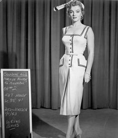 Costume Marilyn Monroe, Marilyn Monroe Outfits, Marilyn Monroe Photos, Madelyn Monroe, Cinema Tv, Vintage Outfits, Vintage Fashion, Actrices Hollywood, Norma Jeane