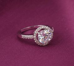 Ring - Platinum Plated, #Elegant, With Crystals