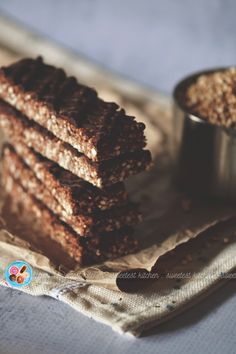 These delicious chocolate peanut butter puffed quinoa bars are so easy to make and are perfect for on-the-go snacks!