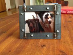 Rustic Industrial Handcrafted 2.5x3.5 Wallet Size Photo Welded Steel Picture Frame