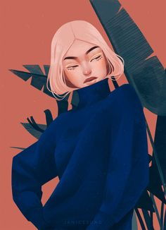 """Janice Sung is a talented illustrator based in Toronto, Canada. """"Mostly inspired by my love for fashion, people, and nature. I love creating worlds and characters that elevate story and beauty."""" — Janice Sung More illustrations via Behance #drawingsketchbook"""