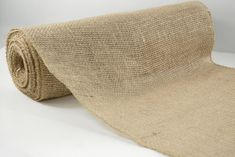 "Natural Jute Roll Burlap Fabric 10 yards (30 foot) x 14"" wide $11"