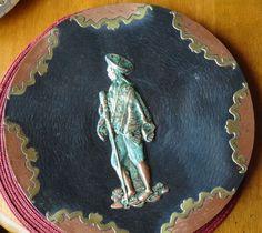 Copper Brass Bronze Plate With Inca Peru Man Unique Wall Hanging