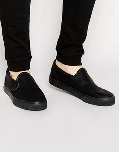 f010e6156e96a4 Image 1 of Brave Soul Slip-on Sneakers Plimsolls