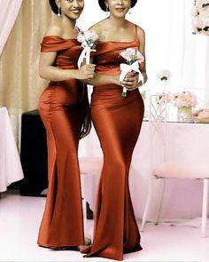 Burnt Orange Bridesmaid Dresses, Cheap Bridesmaid Dresses Online, One Shoulder Bridesmaid Dresses, Mermaid Bridesmaid Dresses, Bridesmaid Dress Styles, Mermaid Evening Dresses, Wedding Bridesmaids, Formal Wedding, Boho Wedding