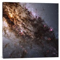 Big Co. Nasa 'Star Birth in the Active Galaxy Centaurus A' Stretched