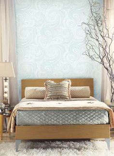 Paisley Swirl Silhouettes Wallpaper. Find this pattern at AmericanBlinds.com. #white #iridescent