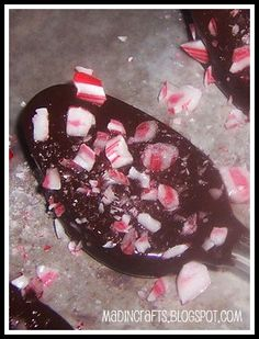 choc peppermint stirring spoons