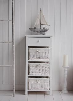New Haven white 4 drawer bedroom furniture storage